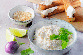 Caviar d'aubergine au St Môret