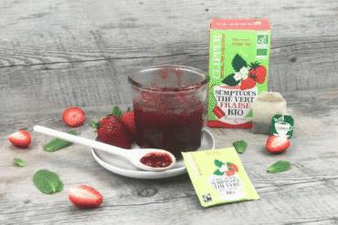 Confiture de fraise au thé vert