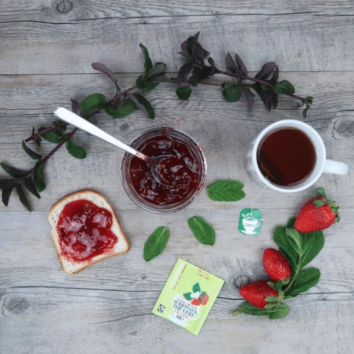 recette de Confiture de fraise au thé vert