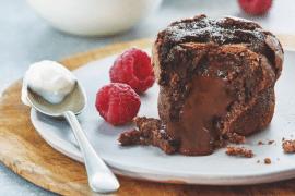 Coeurs coulants au chocolat