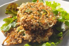 Galettes de kasha aux légumes