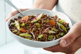 Salade vitaminée de lentilles