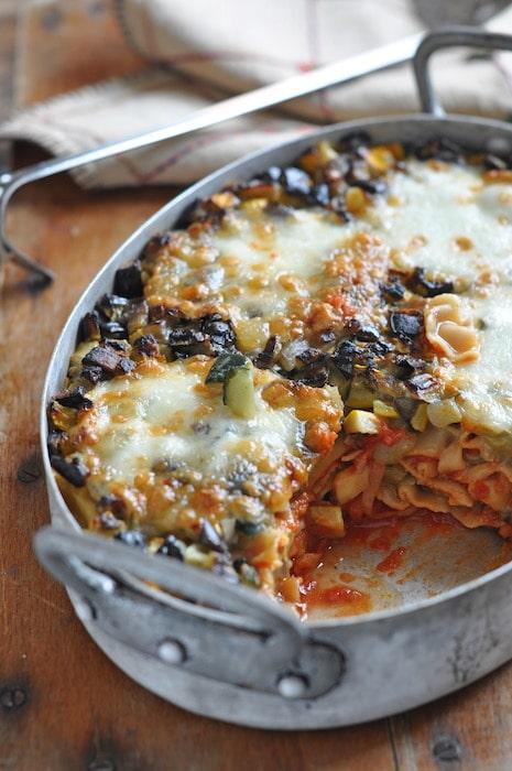 recette de Lasagnes végétariennes aux aubergines