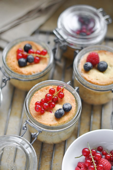 recette de Gâteaux aux fruits rouges