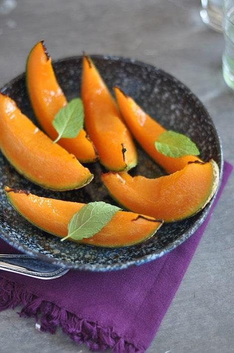recette de Melon rôti au sirop d'érable