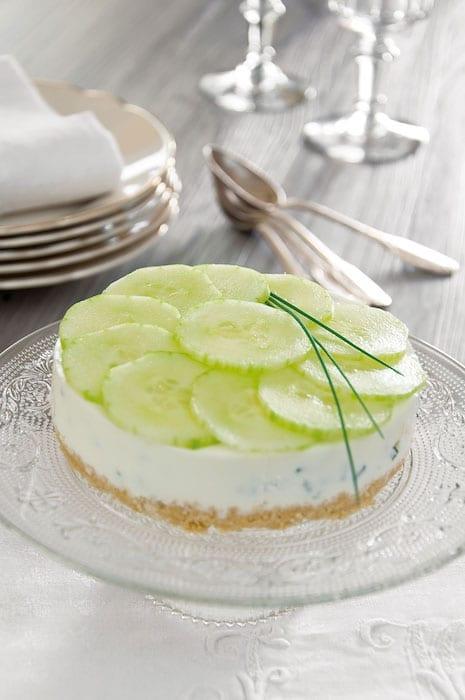 recette de Cheesecake concombre citron