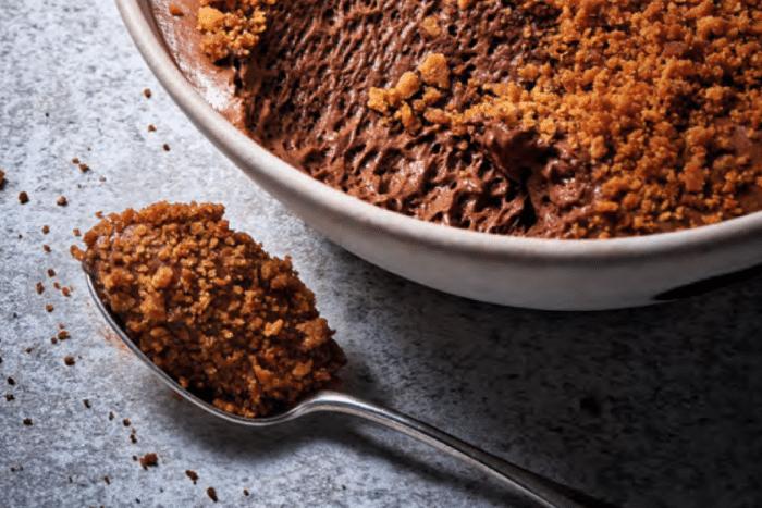Mousse au chocolat supra sablée