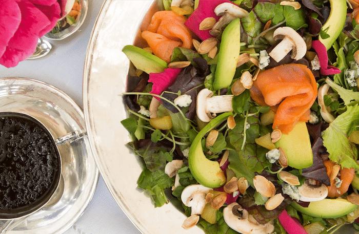 recette de Salade croquante au saumon fumé