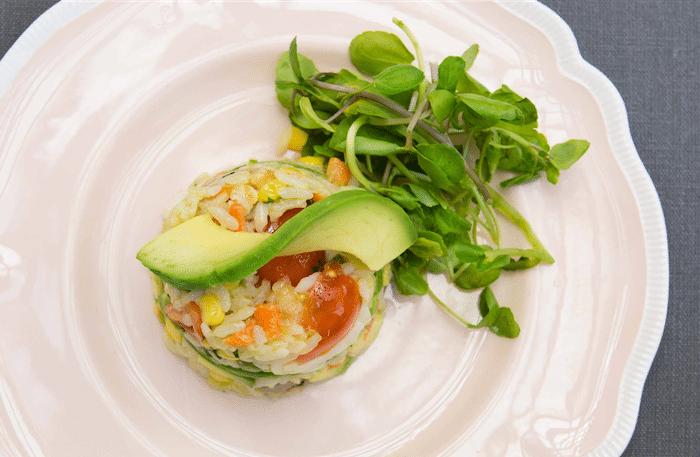 recette de Salade de riz au boeuf