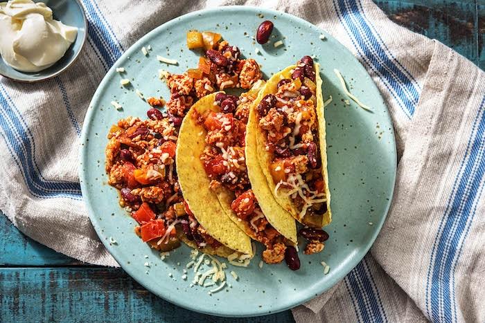 recette de Tacos mexicains au poulet haché