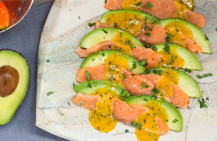 recette de Tartare épicé de saumon avocat