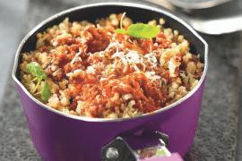 Quinoa gourmand en bolognaise