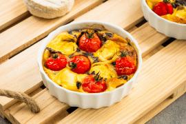 Clafoutis de Saint-Marcellin aux tomates