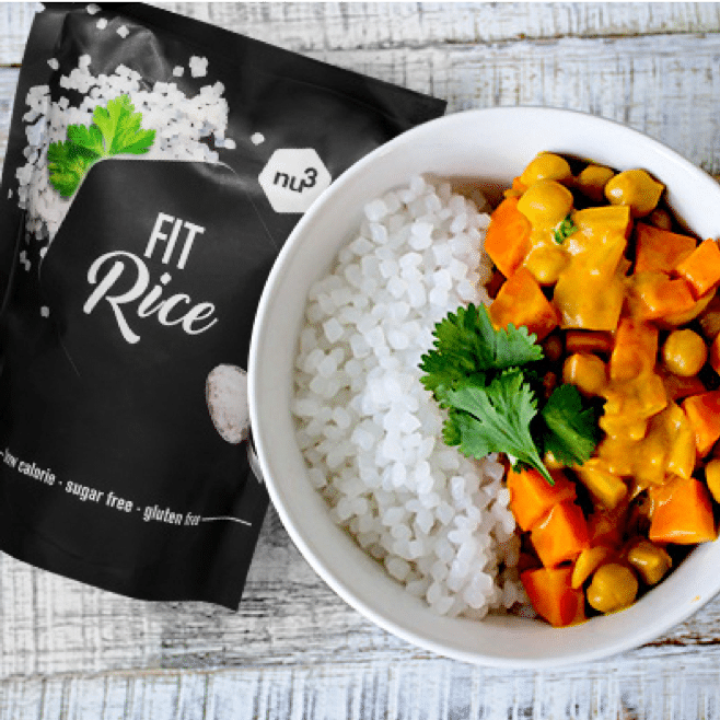 curry végétarien au Fit Rice nu3