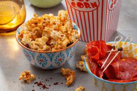 Popcorn à la poudre de tomate