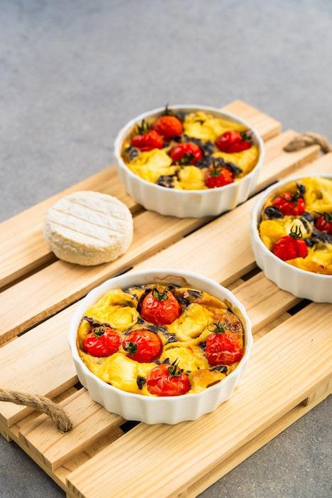 recette de Clafoutis de Saint-Marcellin aux tomates