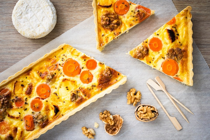 recette de Tarte au Saint-Marcellin et aux carottes