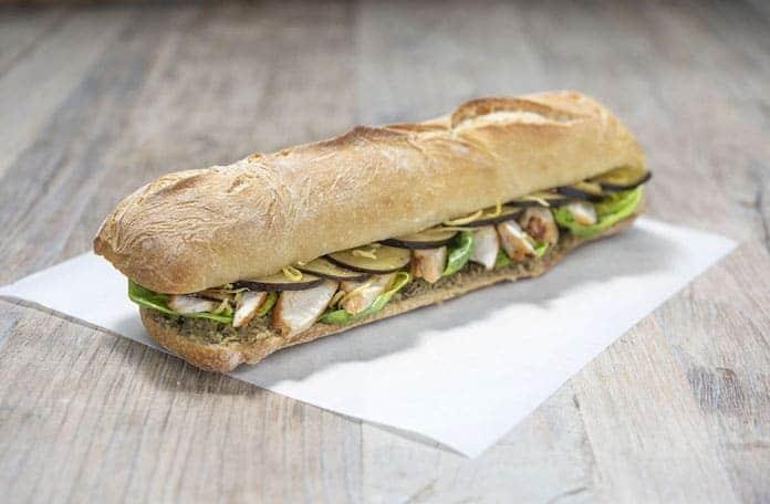 Sandwich Poulet Aubergine