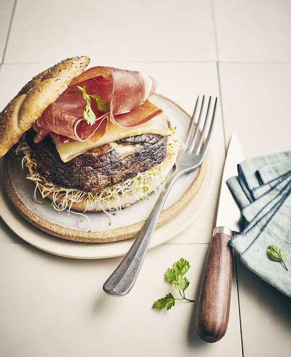 recette de Burger de champignon grillé