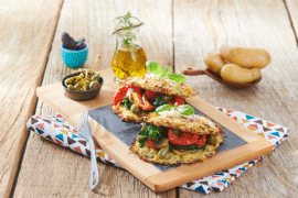 Burger végétarien aux Ratte du Touquet