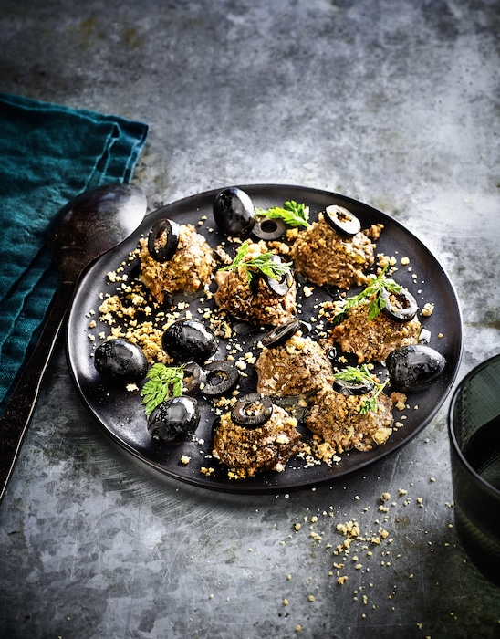 recette de Crème croquante aux olives noires