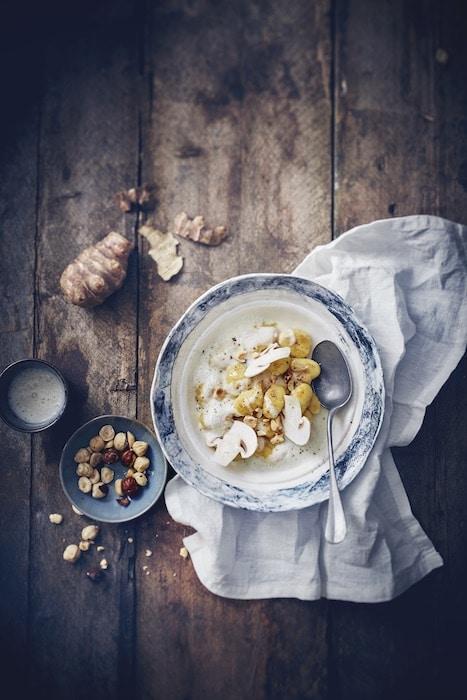 recette de Gnocchi à la crème de topinambour