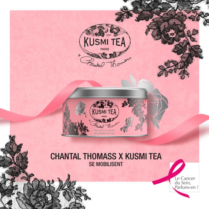 Chantal Thomass x Kusmi Tea Octobre rose