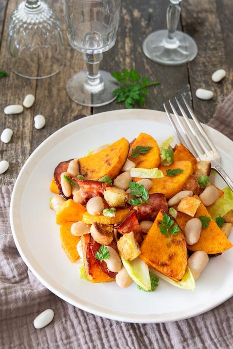 recette de Salade de Haricots Tarbais et butternut