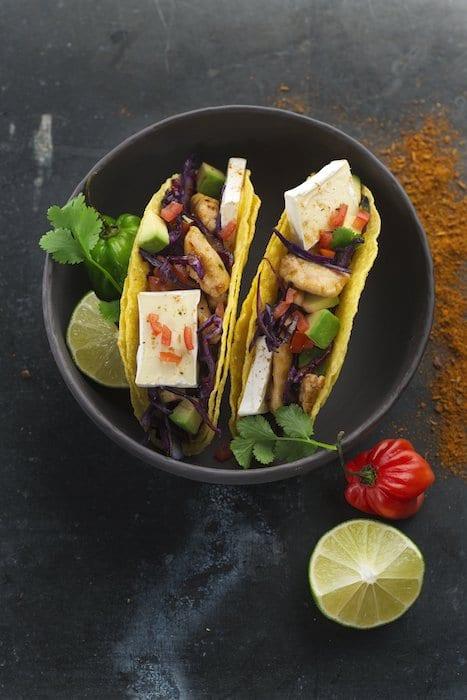 recette de Tacos au poulet et Mini Caprice