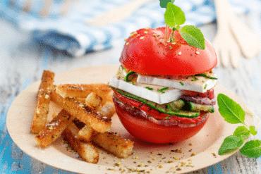 Burgers de tomates au fromage