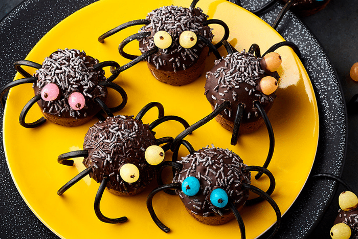 Muffins araignées en chocolat