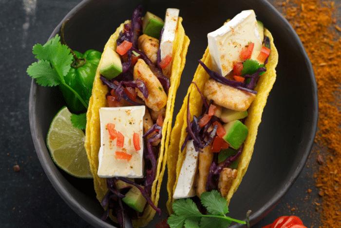 Tacos au poulet et Mini Caprice