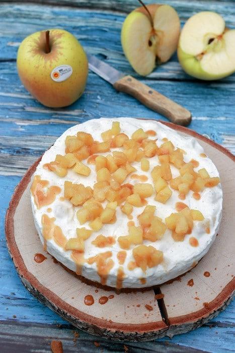 recette de Cheesecake aux pommes caramélisées