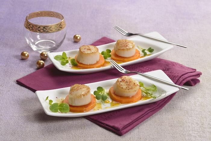 recette de St-Jacques aux patates douces
