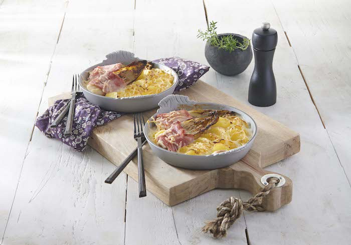 recetted d'Endives au gratin et pommes de terre