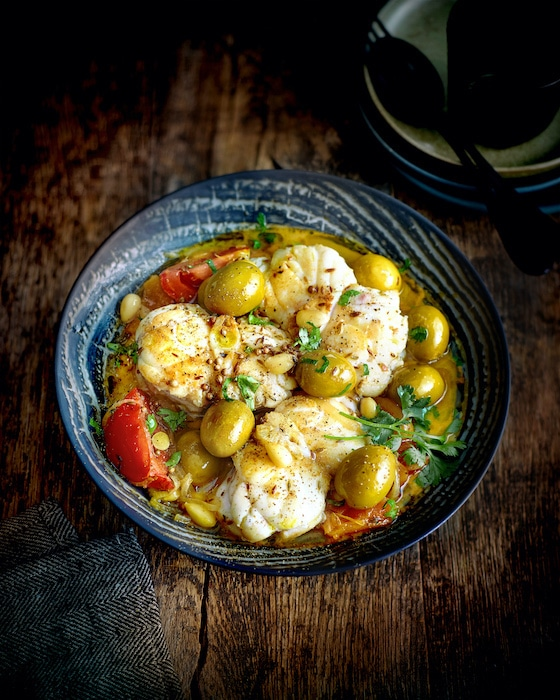 recette de Tajine de lotte aux olives