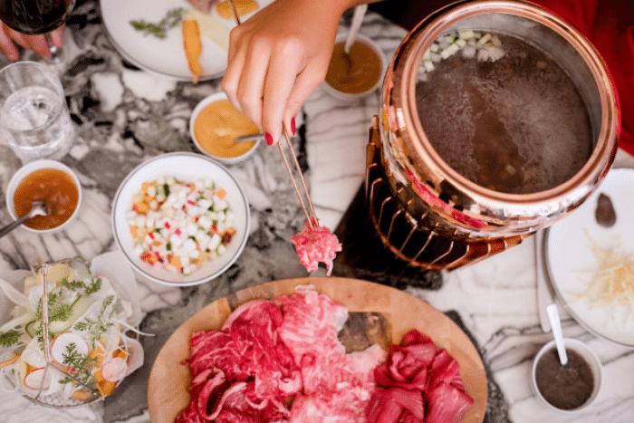 la fondue bourguignonne de Clover Grill