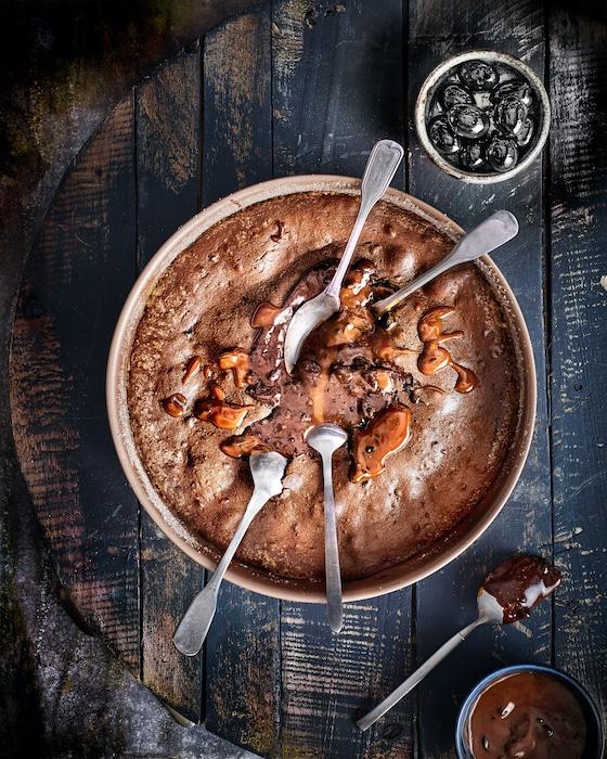 recette de Moelleux au chocolat et aux olives noires