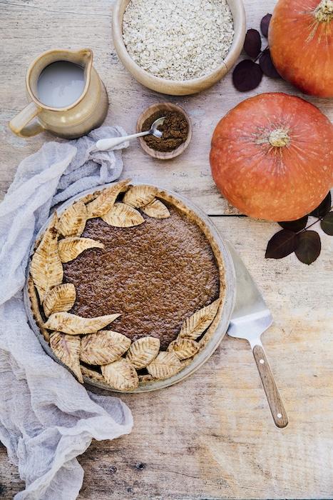recette de Pumpkin pie au lait de noisette