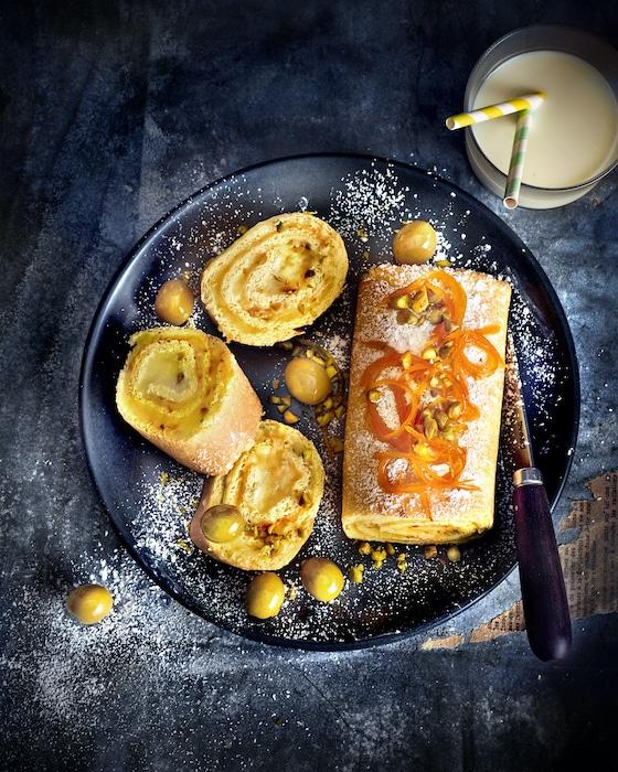 recette de Roulé à l'orange et à la crème d'olives