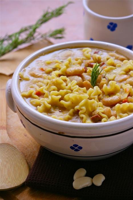 recette de Soupe de Haricots Tarbais à l'Italienne