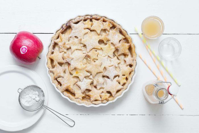 recette de Tarte étoilée aux pommes