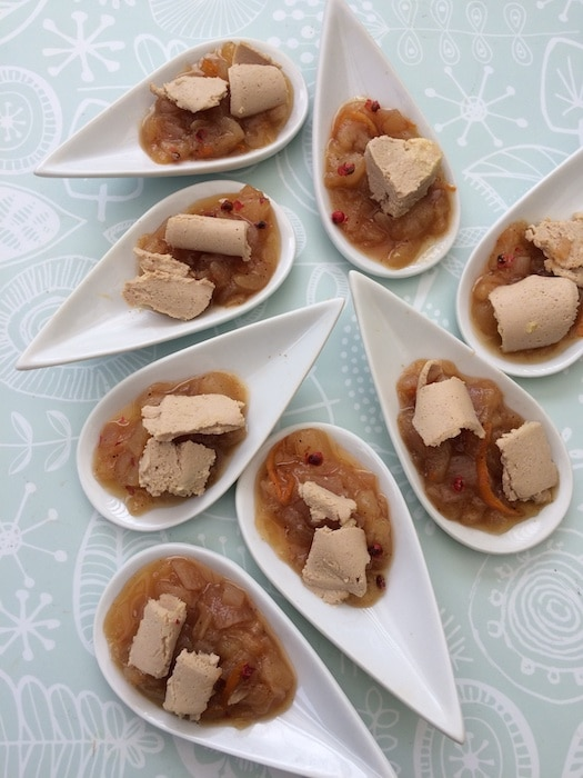recette de Foie gras au chutney