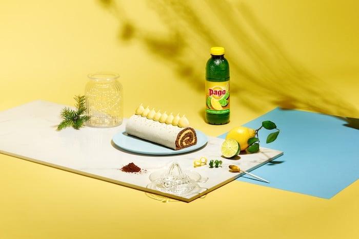 recette de Bûche praliné citron