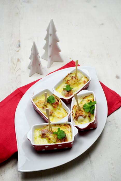 recette de Mini gratins d'endives au jambon