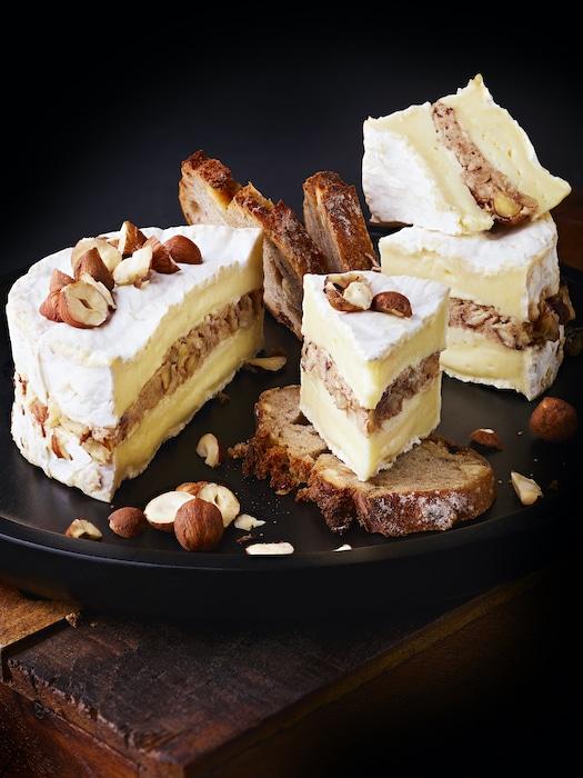 recette de Camembert aux noisettes