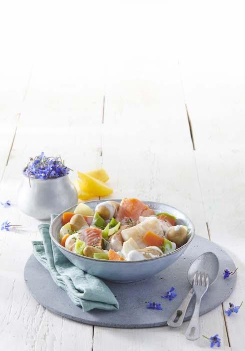 recetet de Waterzoï de poisson aux Pompadour