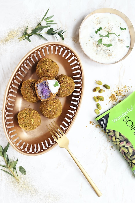 recette de Boulettes de patate douce violette