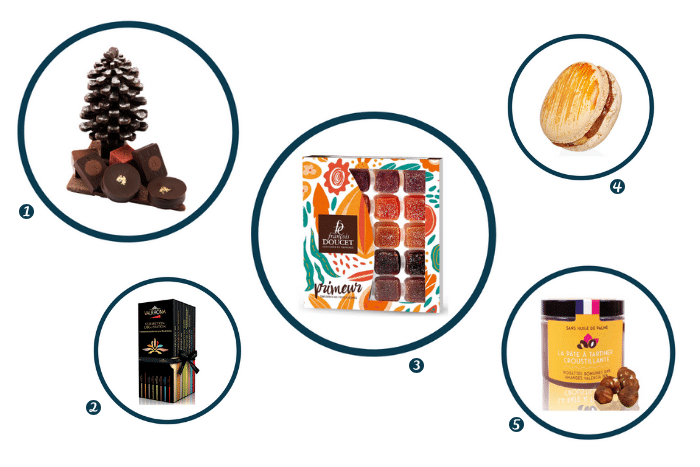 chocolats et gourmandises de Noël