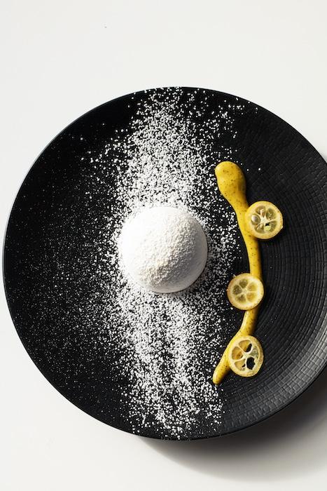 recette de Dôme meringué aux saveurs exotiques